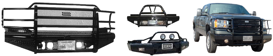front bumper repalcements by ranch hand and frontier gear in Lubbock, Texas