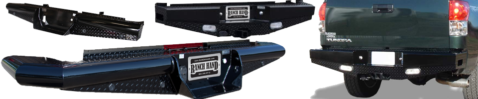 rear bumper replacements by ranch hand and frontier gear in Lubbock, Texas